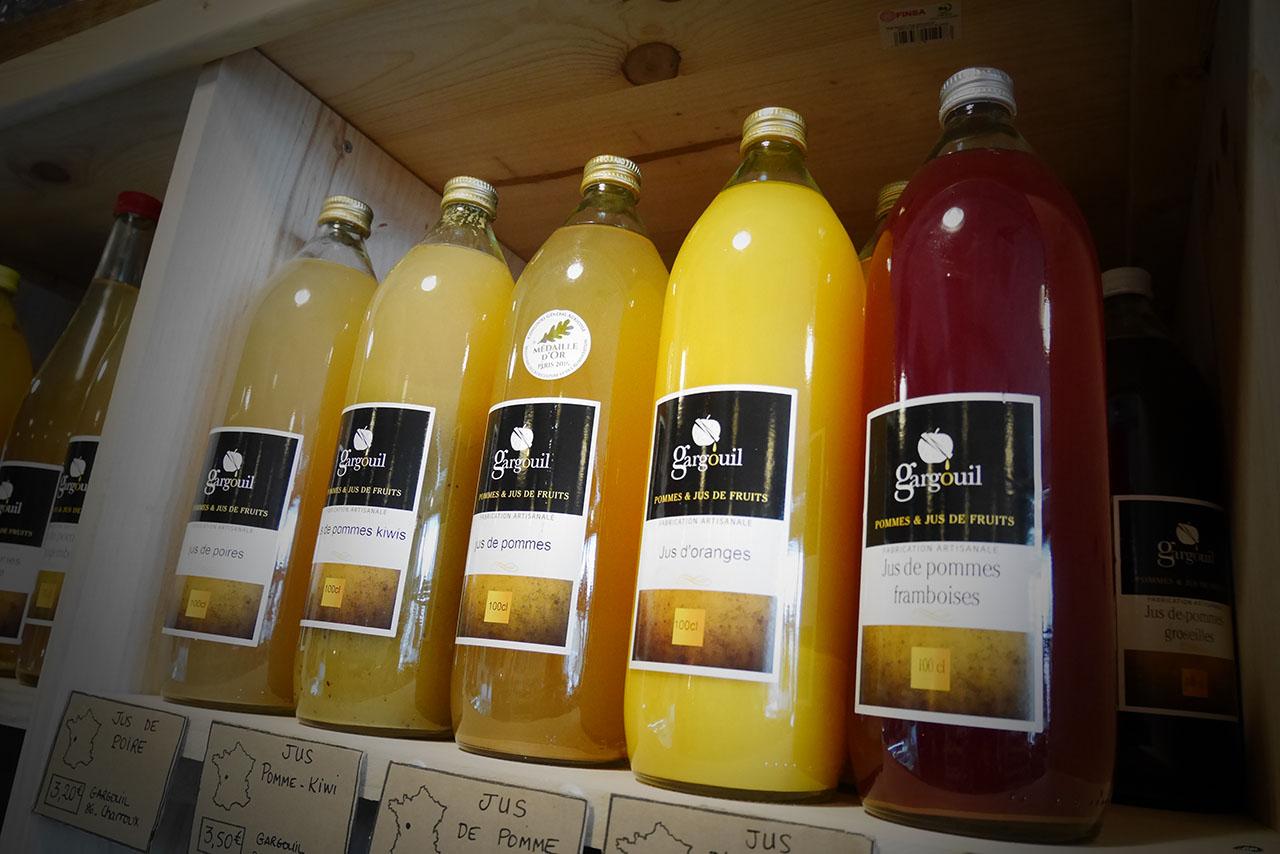 jus de fruit biologique vendus à l'Effet Bocal