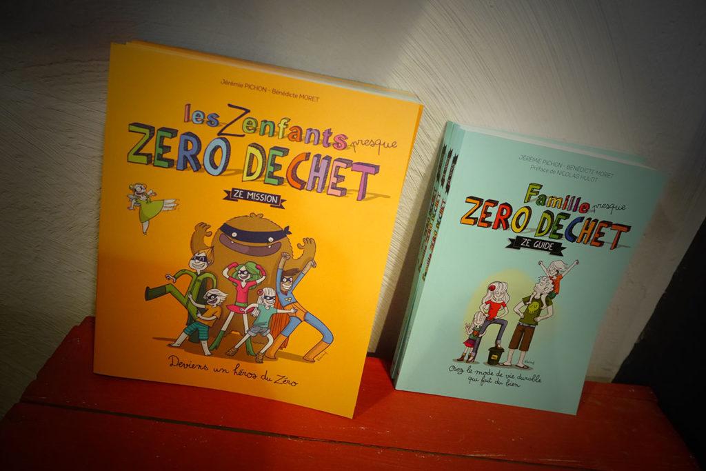 photo représentant les livres de La Famille Zéro Déchet