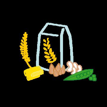 pictogramme ou icône représentant des céréales, du riz et des pâtes