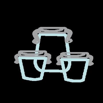 Pictogramme ou icône représentant des conserves et des bocaux en verre