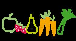 Pictogramme ou icone représentant des fruits et légumes